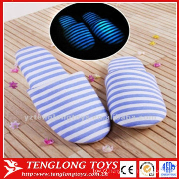 cheap plush luminated stripe slippers winter house slippers bedroom slippers