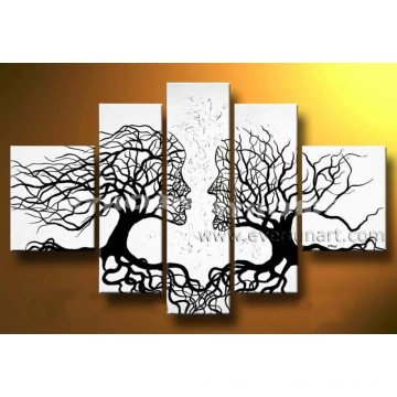 Abstract People Face Tree Oil Painting (LA5-051)