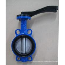 Válvula de mariposa de goma natural de la oblea de la fábrica de China en alto rendimiento