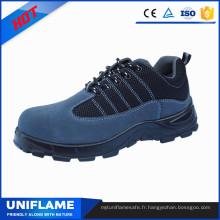 Chaussures de sécurité de chapeau d'orteil en acier léger, chaussures de travail des hommes Ufa103