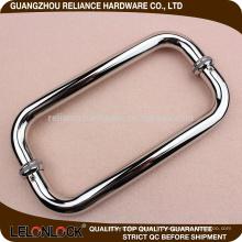 Porte en verre subtile de ligne subtile Tirant arrière de porte à dos avec la finition de solides solubles