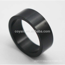 Cheap Round Shaped Classic Stainless Steel Black Rings For Men