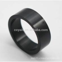 Дешевые круглые формы классической нержавеющей стали черные кольца для мужчин