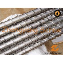 Baril de vis simple bimétallique pour des tuyaux de PVC de baril de vis d'extrusion de film de PE