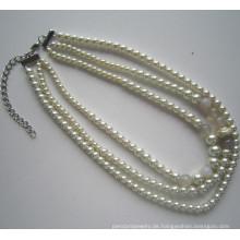 Daking 3 Zeilen Mode Kostüm Halskette für Frauen