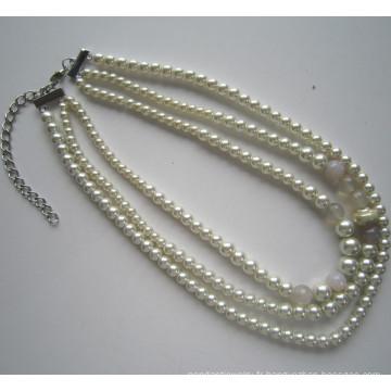 Daking 3 lignes Fashion Costume collier pour femme