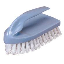 plastic iron shape hand scrub brush with PP hard bristle