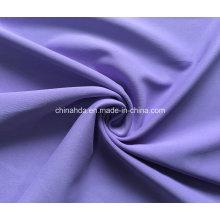 Tela confortável lisa do Sportswear do Spandex poliéster maçante (HD1202261)