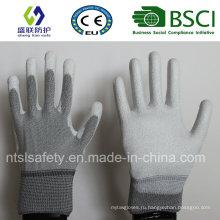 ОУР нейлона PU Топ Fit перчатки (Пур-PU201)