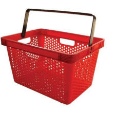 Supermarket Deluxe Small Hole Single Handle Plastic Shopping Basket (YD-B5)