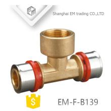EM-F-B139 Messing Schraube T-Stück Außengewinde pex al pex Warmwasserrohr