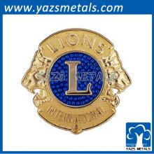 Custom metal Lions Clubs International bagdes