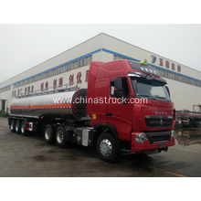 3 axle stainless steel chemical tank semi-trailer