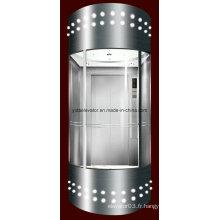 Ascenseur panoramique avec cabine en verre pour visites touristiques (JQ-A051)
