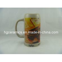 Keramik Bierkrug, 1liter Bierkrug