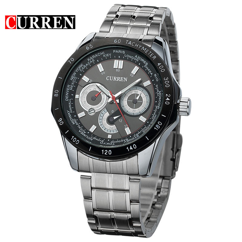 Luxury Business Stainless Steel Strap Stylish Watches