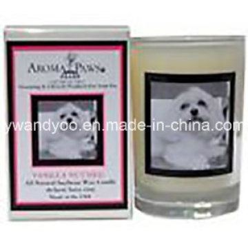 New Designed Scented Soy Jar Candle with Picture