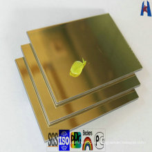 Revestimiento exterior interno de pared Acabado espejo Panel compuesto de aluminio