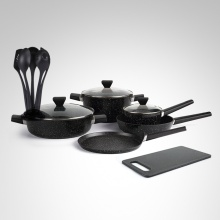 NEW Non-Stick Marble Coat Forged Cookware Set