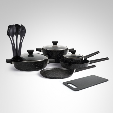 NIEUWE Non-Stick Marble Coat Forged Cookware Set