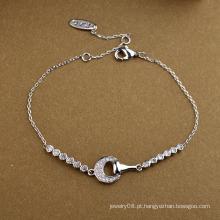 Hot item jóias promocionais simples e agradável a pulseira de meia lua cristal