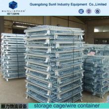 Caja de almacenamiento de malla de alambre de acero Caja de contenedor de jaula