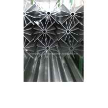 Tubo aletado de alumínio para o vaporizador de esboço natural