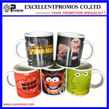 Tasse en céramique colorée lumineuse imprimée pour promotionnel (EP-M9154)