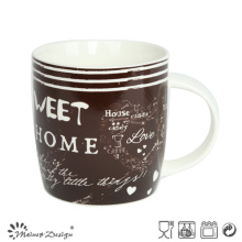 12oz New Bone China Mug with English Words