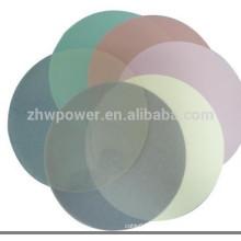 Ultra-precisão flexibilidade 3M fibra óptica polimento filme, 1um 3um 9um fibra polimento filmes tipo redondo com com 127 milímetros de diâmetro