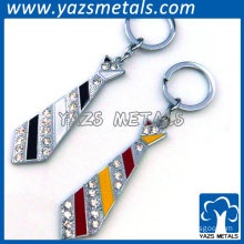 promotional tie shaped crystal keychain