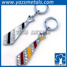 chaveiro promocional de cristal em forma de gravata