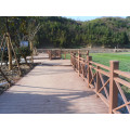 Decking de paisaje compuesto de madera de plástico y proyecto de construcción de WPC