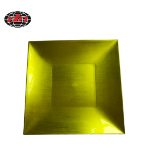 Green Square Plastic Charger Plate