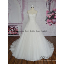Elegant Ball Gown Lace Neck Handmade Quinceanera/Wedding Dresses
