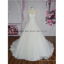 Quinceanera / vestidos de casamento Handmade do pescoço elegante do laço do vestido de bola