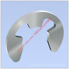 Grampo Circlip tipo E padrão para eixos e eixos