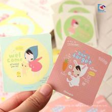 Selbstklebender Papier-runder netter Aufkleber-Aufkleber für Kinder und kosmetische Verpackung