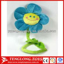 Fahion diseño relleno sonriente flores de felpa