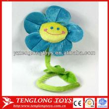Fahion design stuffed smiling plush flowers