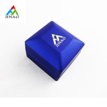 Boîte à bijoux LED en plastique bleu pour bague