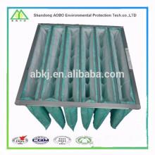 filtro de aire de bolsillo de eficiencia media lavable para aire acondicionado HVAC
