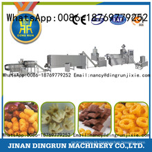 Different taste puff corn snacks food processing line extruder