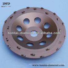 180mm PCD abrasivo taza de ruedas para la eliminación de epoxi