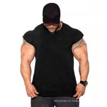 T-shirt Slim Fit de algodão para homem com músculos