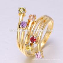 Chine usine directe en gros bijoux CZ anneau 18 K or exporté dans le monde entier