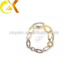 Pulsera del acoplamiento del chapado en oro de la joyería del acero inoxidable para la muchacha