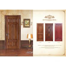 Design de porta de madeira em carvalho vermelho engenharia interior