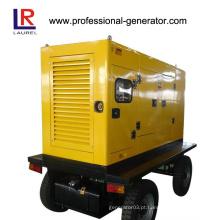 Planta de energia móvel Tipo de reboque Gerador de roda 20kw - 400kw