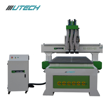 Three processes woodworking machine pneumatic cnc router